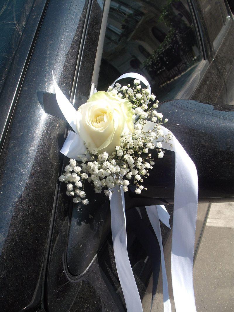 AC 06-15,00 Ron-Aranjament floral oglinda cu trandafir si gypsofila