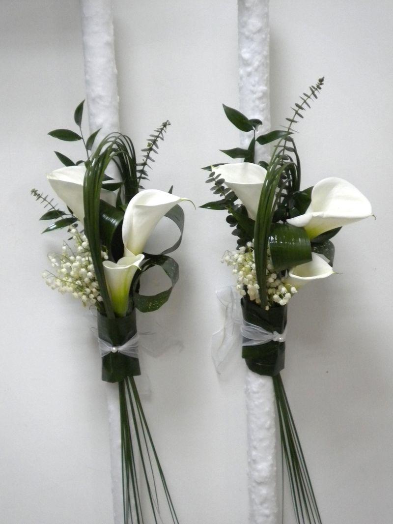 LN 04-150,00 RON-Lumanare nunta cu lacramioare si cale