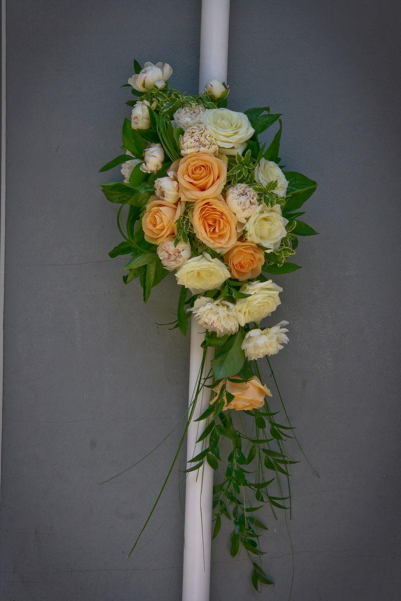 LN 06-260,00 RON-Lumanare nunta cu trandafiri si bujori