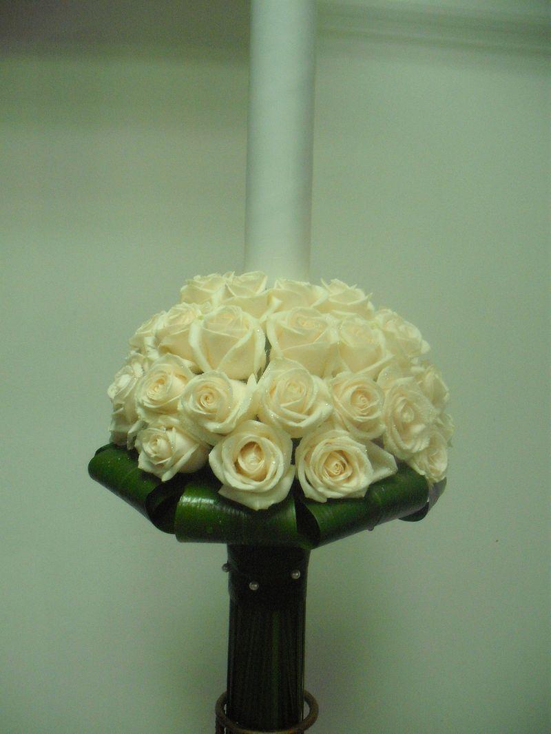 LN 15-500,00 RON-Lumanare cu trandafiri