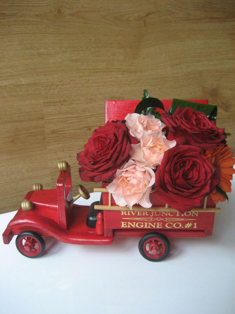 AN 11-100,00 RON-Aranjament natural cu trandafiri si minirosa