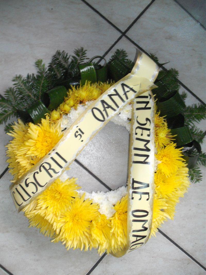 FC 02-180,00 Ron-Coroana cu euro crizanteme