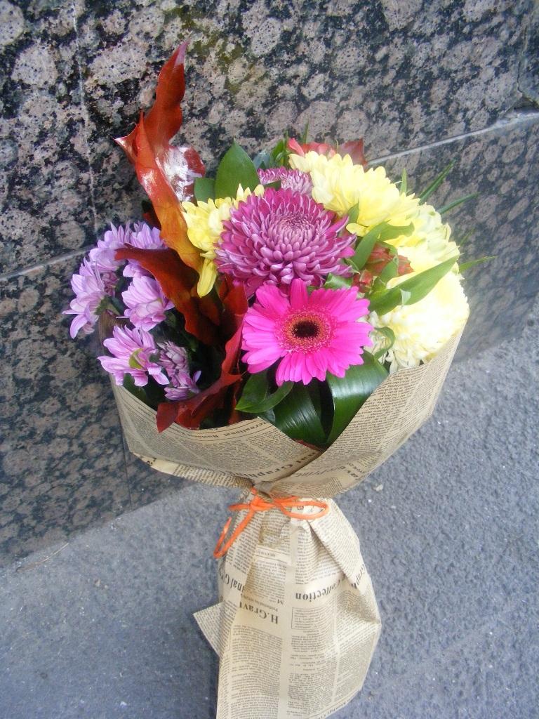 BF 26-80,00 Ron-Buchet flori cu minigerbera, alstroemeria si crizanteme
